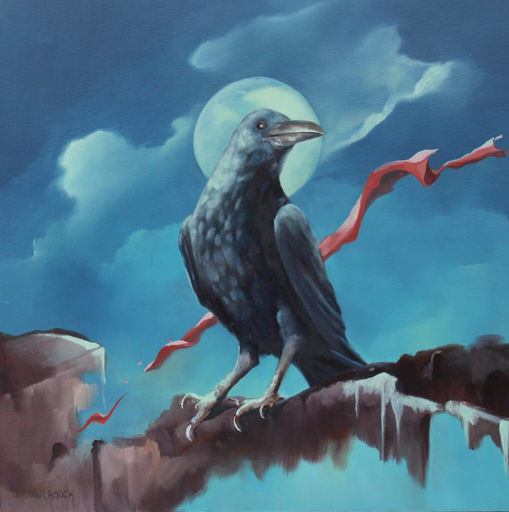 **SOLD** Ode to Edgar Allen Poe, 12 x 12, Oil on Panel