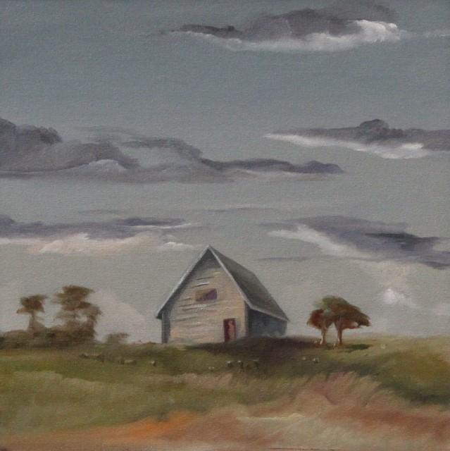 Lone House, 8 x 8