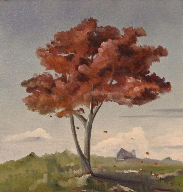 Lone Tree, 8 x 8
