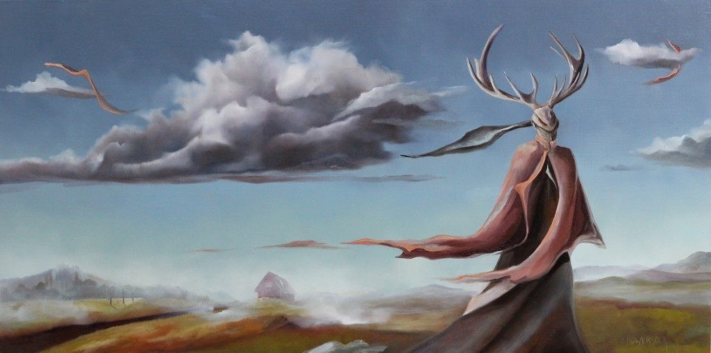 **SOLD** The Gate Keeper, 12 x 24