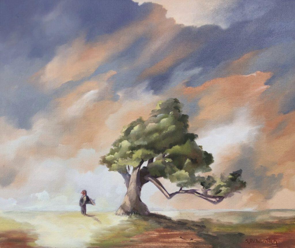 **SOLD** Birdman, 10 x 12, Oil on Linen Panel